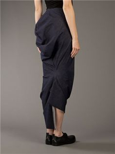 COMME DES GARÇONS - Draped Skirt __ $403, avail in size Sm. & Med.    COMME DES GARÇONS Draped Skirt
