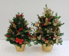 Beautiful tabletop cut boxwood tree decorated for the holiday season with festive trim provides the finishing touch to the holiday decorations. Cut Flowers, Fresh Flowers, Holiday Decorations, Tree Decorations, Boxwood Tree, White Plains, Flower Shops, Blossom Flower, Flower Delivery