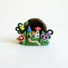 Miniature Whimsical Toadstool Fairy Houses by ArtisticSpirit, $29.50