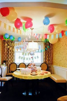 Oh how I wish I were dedicated enough to go all out for a birthday theme (check out the yellow balloon picture on the post... so cute and cheerful)