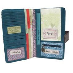 In love with this! DIY Travel Document Wallet