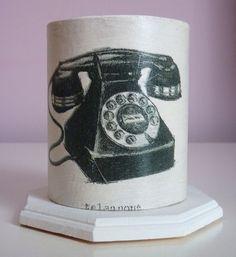 """Pot à crayons """"Téléphone noir vintage"""" : Accessoires de maison par leboudoirdenadia"""