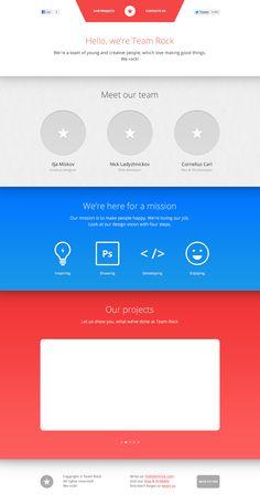 Team Rock by Ilja Miskov #web #design #webdesign