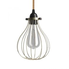 The timeless charm of vintage lighting. The Naked light bulb cage lampshade Drop Brass finished metal is inspired by industrial and steampunk atmospheres. Ampoule Design, Cage, Steampunk, White Ceiling, Light Installation, Vintage Lighting, Lampshades, One Light, Pendant Lighting