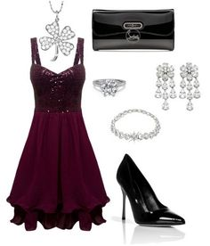 Burgundy cocktail sleeveless dress outfit