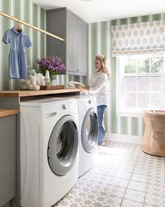 My Laundry Room Reveal Landry Room, Doing Laundry, Grey Cabinets, Trucks, Laundry Hamper, Laundry Room Design, Room Accessories, Classic House, Beautiful Space