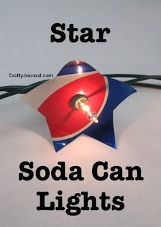 Colorful Star Soda Can Lights