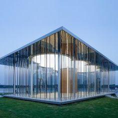 Schmidt+Hammer+Lassen's+Cloud+Pavilion+is+a+glass-walled+events+space+in+Shanghai