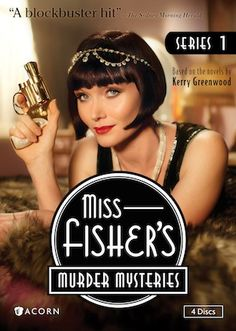 Miss Fisher's Murder Mysteries - my current obsession. I NEED Series 2 in my life! Thank you, Ann!