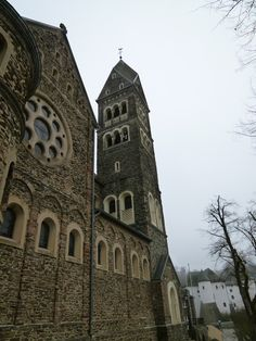 """Church Saints Cosmas and Damian""(Chiesa), Clervaux, Luxembourg, Novembre"