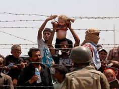 Even though the refugees can't make it, they want the baby to be safe.