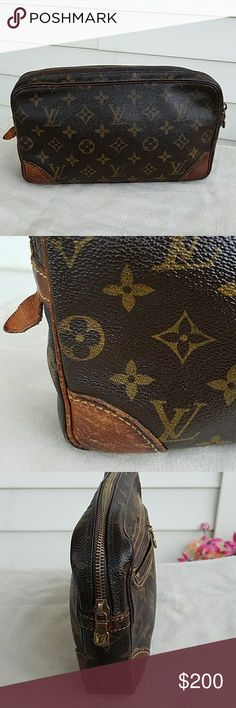 """AUTHENTIC LOUIS VUITTON MARLY CLUTCH """" MAKE ME AN OFFER"""" This is Louis Vuitton Monogram clutch , Excellent Vintage Condition, The outside zipper can be fix, overall condition is Excelent, Clean inside and out. Bags Clutches & Wristlets"""