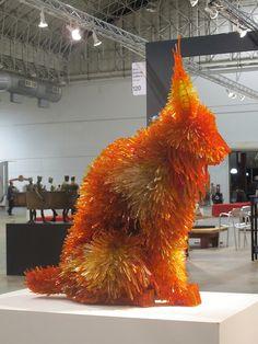 Unconventional mosaic art - shattered glass animal sculptures by Marta Klonowska