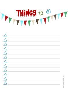 Printable Task List  Projects To Try    Template And