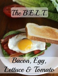 BELT Sandwich (Bacon