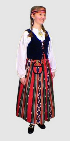 Jurva costume - looks like one that my grandmother has Tribal Dress, Ethnic Dress, Folk Clothing, Historical Clothing, Folk Costume, Costume Dress, Costumes Around The World, Ethnic Outfits, Traditional Dresses