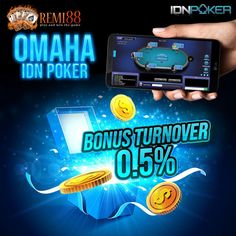 Game Omaha Poker online server idn play yang bisa anda mainkan melalui agen poker idn Remi88 dengan 1 akun #idnpoker serta terdapat juga bonus turnover 0.5%. Poker, Play