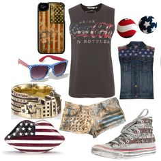 """Edgy 4th of July"" by olliegmich493 on Polyvore"