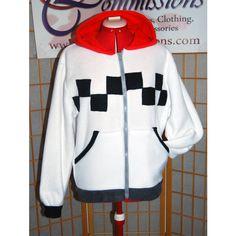 Kingdom Hearts Roxas Hoodie ($70) ❤ liked on Polyvore featuring tops, hoodies, grey, sweatshirts, women's clothing, embroidered sweatshirts, sweatshirts hoodies, hooded sweatshirt, grey hooded sweatshirt and gray hoodie