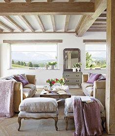 La casa de mis sueños (otra más)   Decoración Ikea, Dome House, Outdoor Furniture Sets, Outdoor Decor, Dining Bench, Sweet Home, Curtains, Wood, Interior