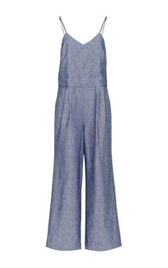 Chios Jumpsuit In Chambray by Apiece Apart for Preorder on Moda Operandi