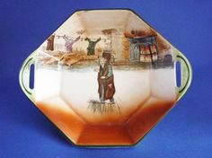 Royal Doulton Dickens Ware 'Fagin' Octagon Dish D5175 c1935