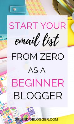Have you decided it's time to start making money with your blog? Then you need to start an email list. Click through to find out why it's so important to start an email list and how you can start yours today! | How to start an email list | how to grow an email list | how to make money blogging | earn money with your blog | create a profitable blog | splendidblogger.com
