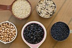 Legumes and Grains Cooking Cheat Sheet - Shows how many cups of dried beans makes how many cups of cooked + prep and cook times - From Oh She Glows