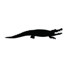 Alligator Silhouette Stencil D