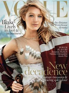 Blake Lively's First Magazine Cover Post Pregnancy Announcement Is Here! Glow, Baby, Glow!