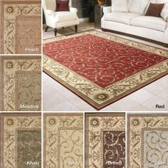 Rug Squared Fenwick Traditional Rug (7'9 x 10'10) (Ivory), Beige Off-White (Acrylic, Border)