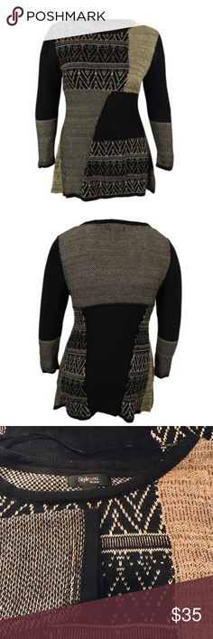 "Style & Co. Women's Patchwork Handkerchief Sweater Style & Co. Women's Patchwork Handkerchief Sweater. B084. 1X it's 22"" across armpit to armpit 31"" long. Soft fabric. Style & Co Sweaters Crew & Scoop Necks"
