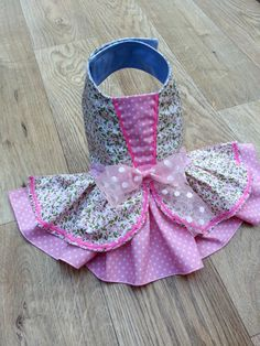 Small dog clothes dress Chihuahua Yorkie coat Pink Flower