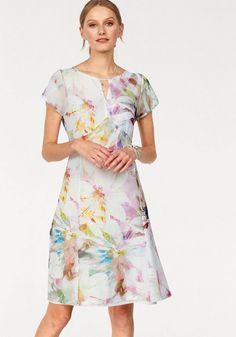 Daniel Hechter Sommerkleid, im floralen Dessin für 99,90€. Rundhals mit Cutout Vorne, Luftig leichter Mesh, mit Futter bei OTTO