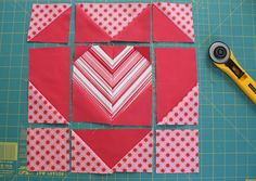 """""""Be good to your heart"""" quilt block tutorial"""