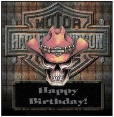Happy Birthday! Harley Davidson Skull