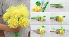 Tassel Flowers Tutorial