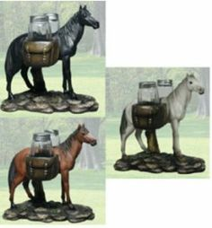 """""""Equus Spice"""" Horse Salt and Pepper Shaker Set by DWK. $16.99. Please notify the color you like through Contact Seller or Notes. """"Equus Spice"""". Made of Polyresin. Horse Salt and Pepper Shaker Set. 6.75"""". """"Equus Spice"""", Horse Salt and Pepper Shaker Set, 7.25"""", Made of Polyresin. Please notify the color you like through Contact Seller or Notes, in case of no selection we will put any color of our choice."""