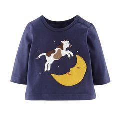 Baby Boys T-shirt Kids Tees Children Long Sleeve Cotton Cars Trucks Stripes T Shirt Clothes #Affiliate