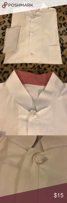 White Banded Collar French Cuff Formal Shirt 17 Solid White Banded Collar French Cuff Formal Tuxedo Shirt size 17 34/35! Great condition! Please make reasonable offers and bundle! Ask questions :) Shirts Dress Shirts
