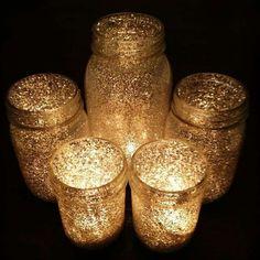 Barattoli luminosi glitterati