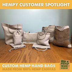Check out these AWESOME custom #HempBags made from #HempCanvas #HempFabric Which one do you like best? Hemp Fabric, Textile Fabrics, Warehouse, Throw Pillows, Handbags, Canvas, Awesome, Check, Shopping