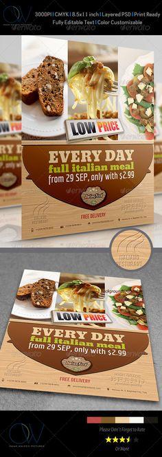 Images about restaurant flyer designs on pinterest