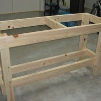 Workbench Table Potting Bench Plans To Make Gardening Work Easy - The . DIY Mobile Workbench With Storage Shelf Buildsomething Com. Tempel By Love Hulten Combines Adapted Workbench Storage . Home and Family Garage Workbench Plans, Workbench Table, Building A Workbench, Workbench Designs, Folding Workbench, Woodworking Bench Plans, Woodworking Garage, Woodworking Crafts, Workbench Ideas