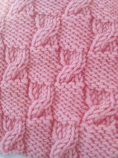 – Knitting and crochet afghans and blankets,,,,monochromat… - Stirnband Stricken Knitting Stiches, Cable Knitting, Easy Knitting, Baby Knitting Patterns, Stitch Patterns, Débardeurs Au Crochet, Crochet Afghans, Diy Crafts Knitting, Knitted Blankets