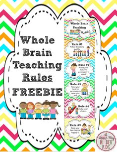 FREEBIE: Whole Brain Teaching Rules in a Chevron print.
