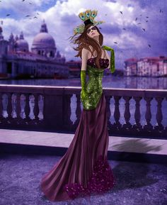 PRISM Lanai Gown by Journey - Mardi Gras!