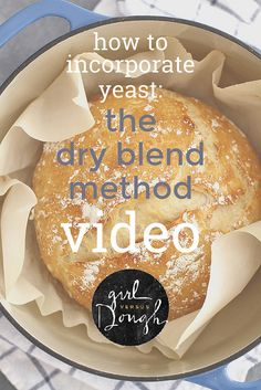 An easy video tutorial on how to incorporate yeast into your dough using the dry blend method. Biscuit Bread, Breakfast Biscuits, Yeast Bread, Baking Tips, Bread Baking, Baking Recipes, Fresh Bread, Sweet Bread, Easy Biscuit Recipe