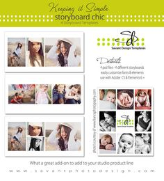 Instant Download  X Storyboard Collection  Collage