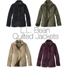 l.l. bean quilted jackets by preppylovelove, via Polyvore